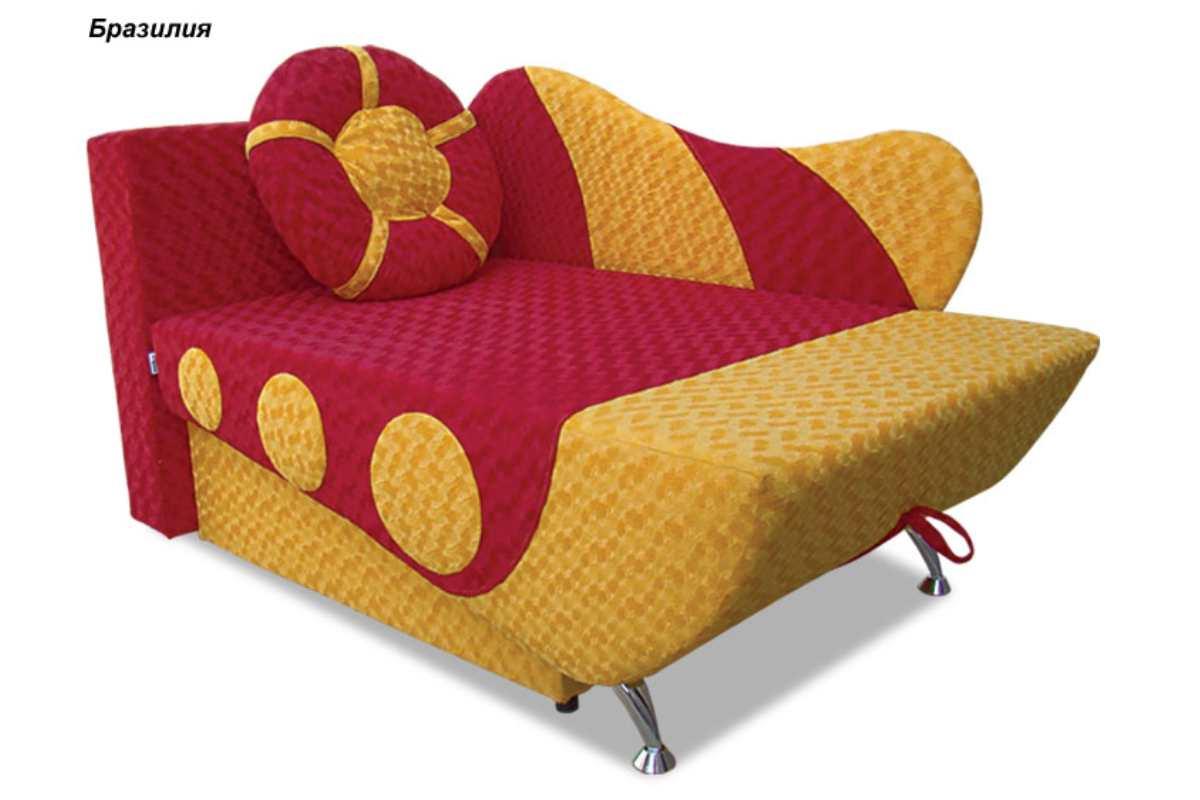 детское кресло кровать эльф красный с желтым
