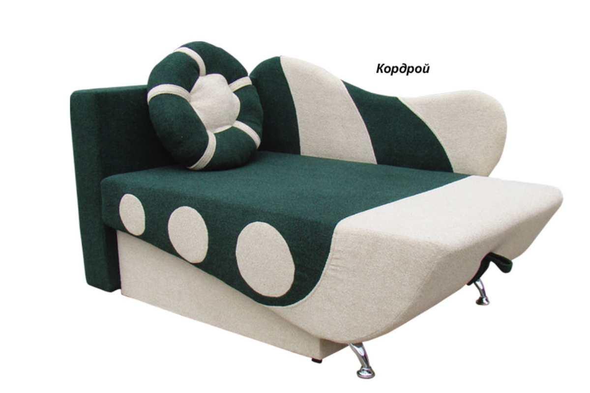 детское кресло кровать эльф зеленый