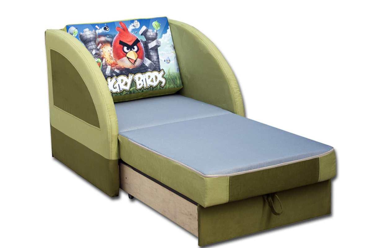 детское кресло кровать магик птички