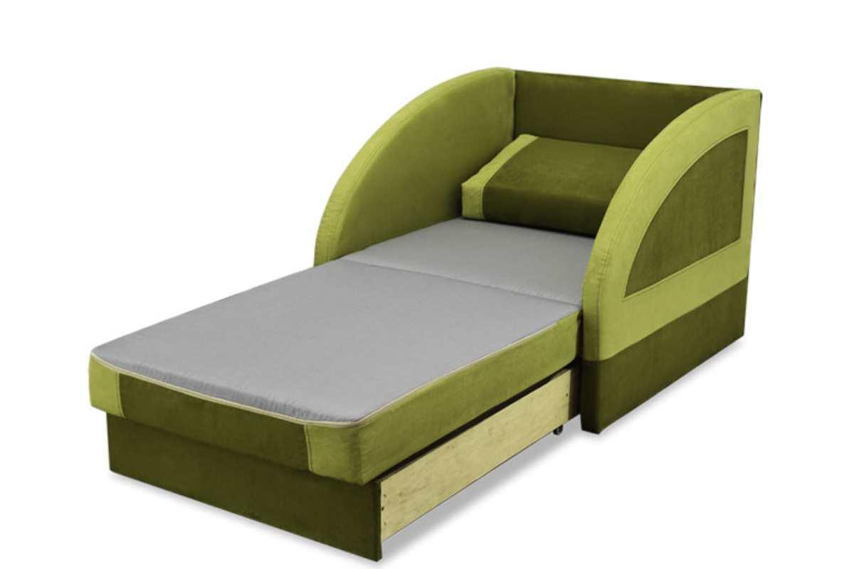 детское кресло кровать магик зеленый
