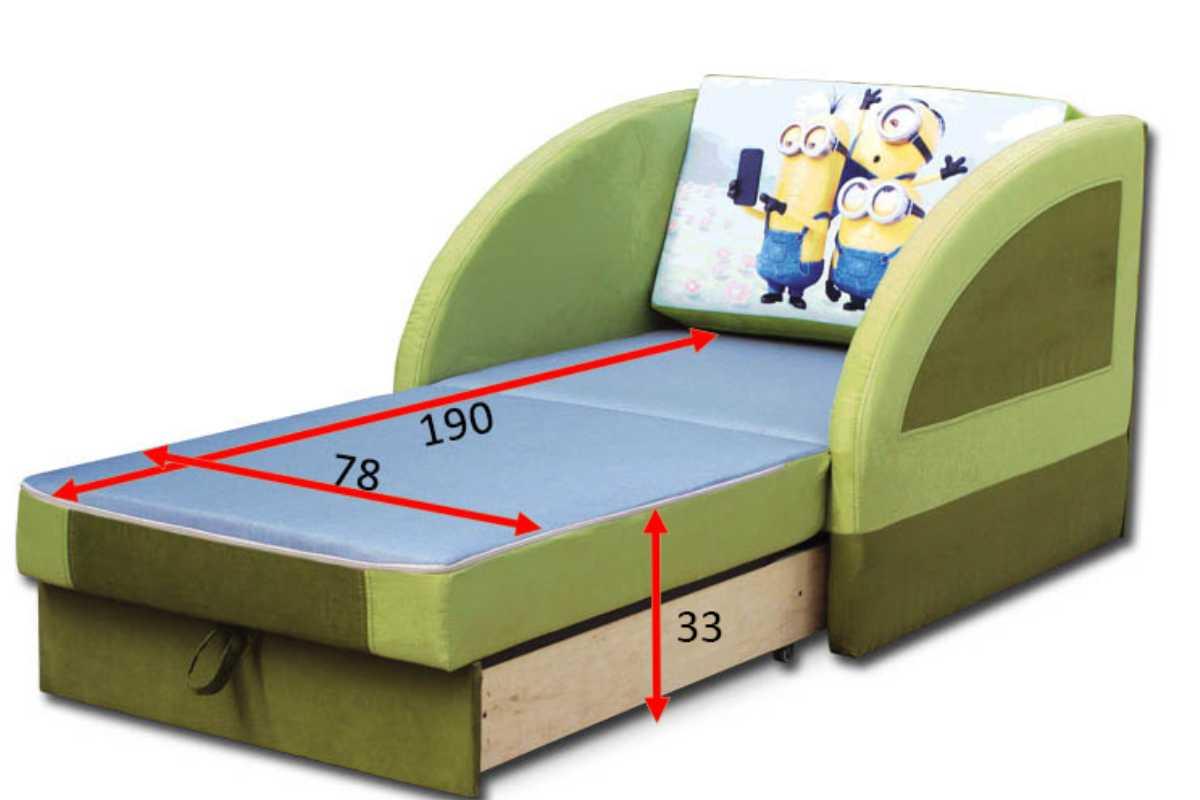 детское кресло кровать магик раскладное схема