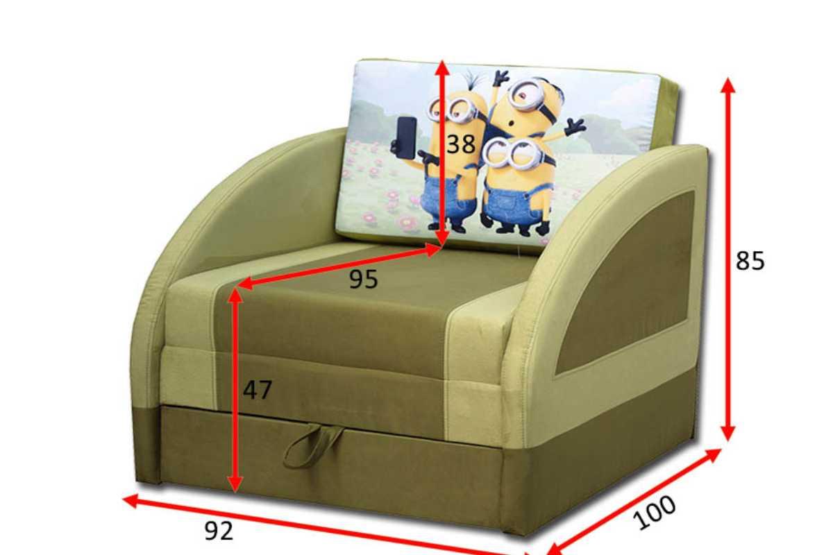 детское кресло кровать магик схема