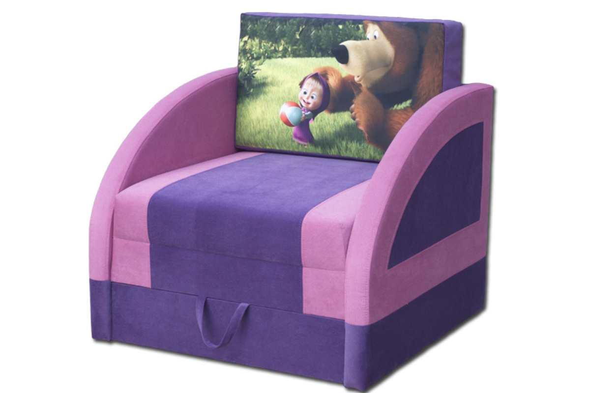 детское кресло кровать магик маша и медведь