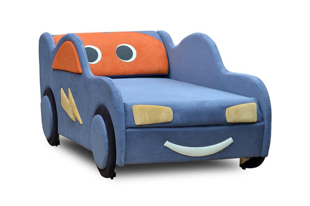 кровать машинка диванчик маквин голубой