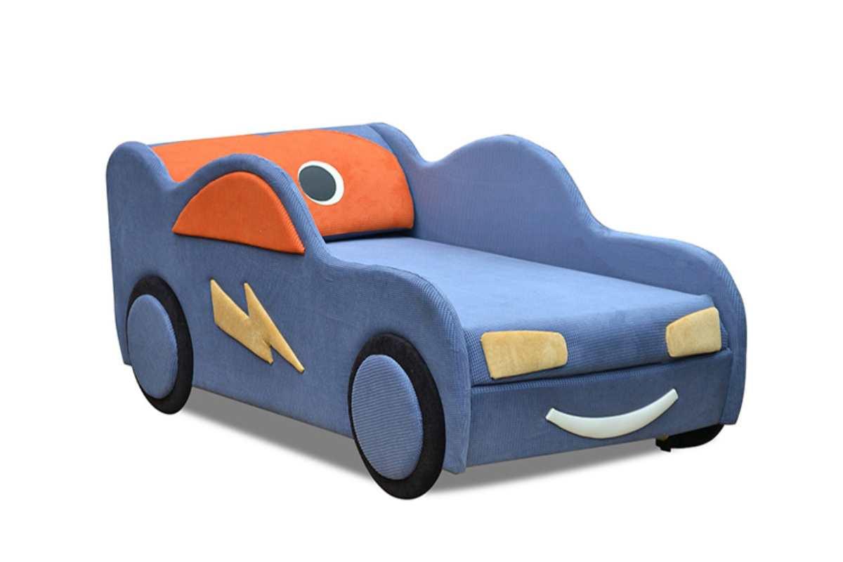 кровать машинка диванчик маквинчик голубой