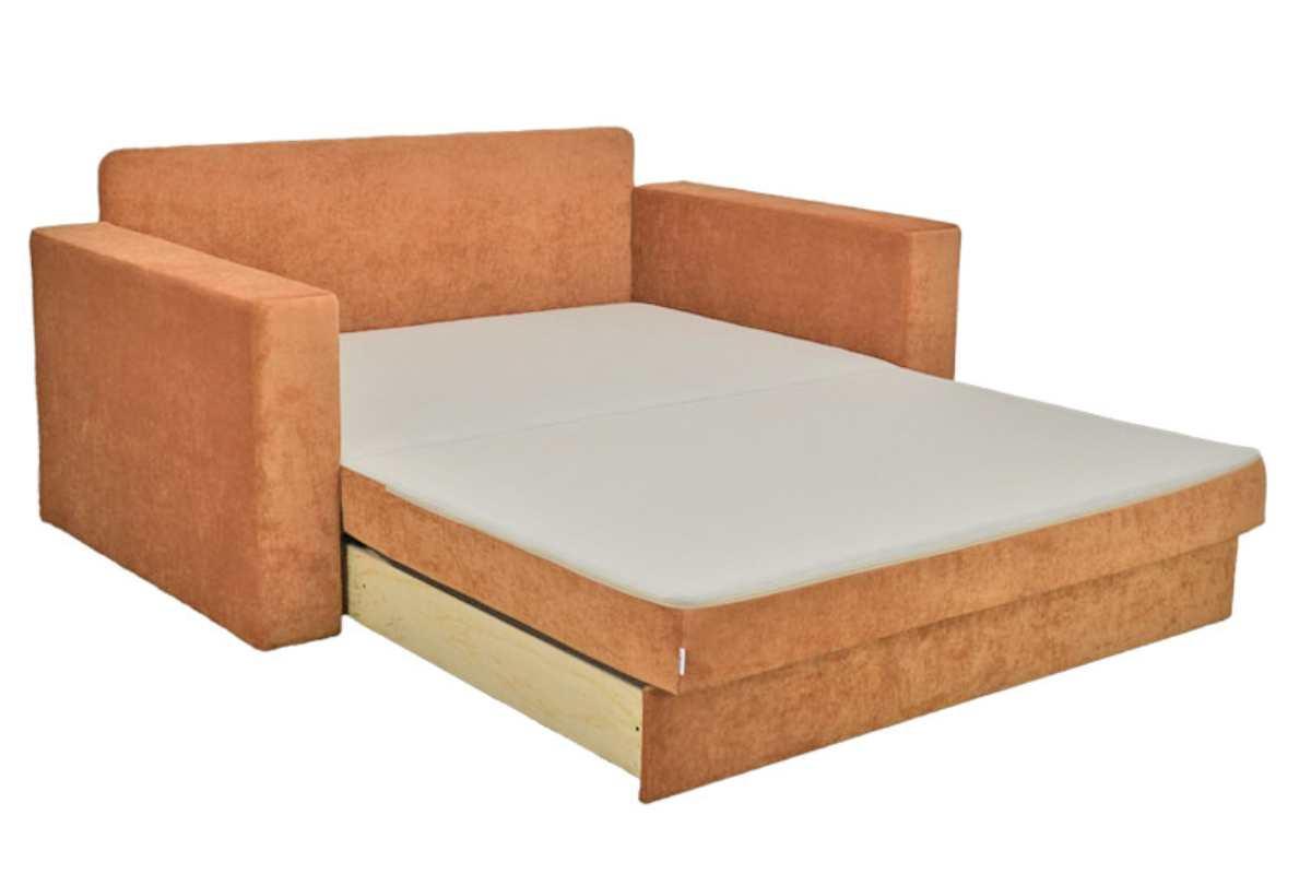 диван кровать раскладной марс в разложенном виде