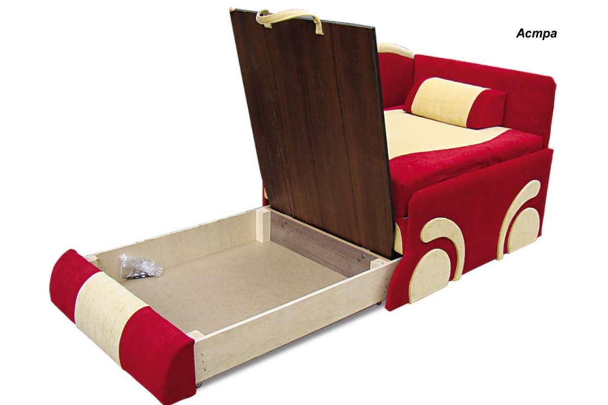 детское кресло кровать диван машинка с нишей