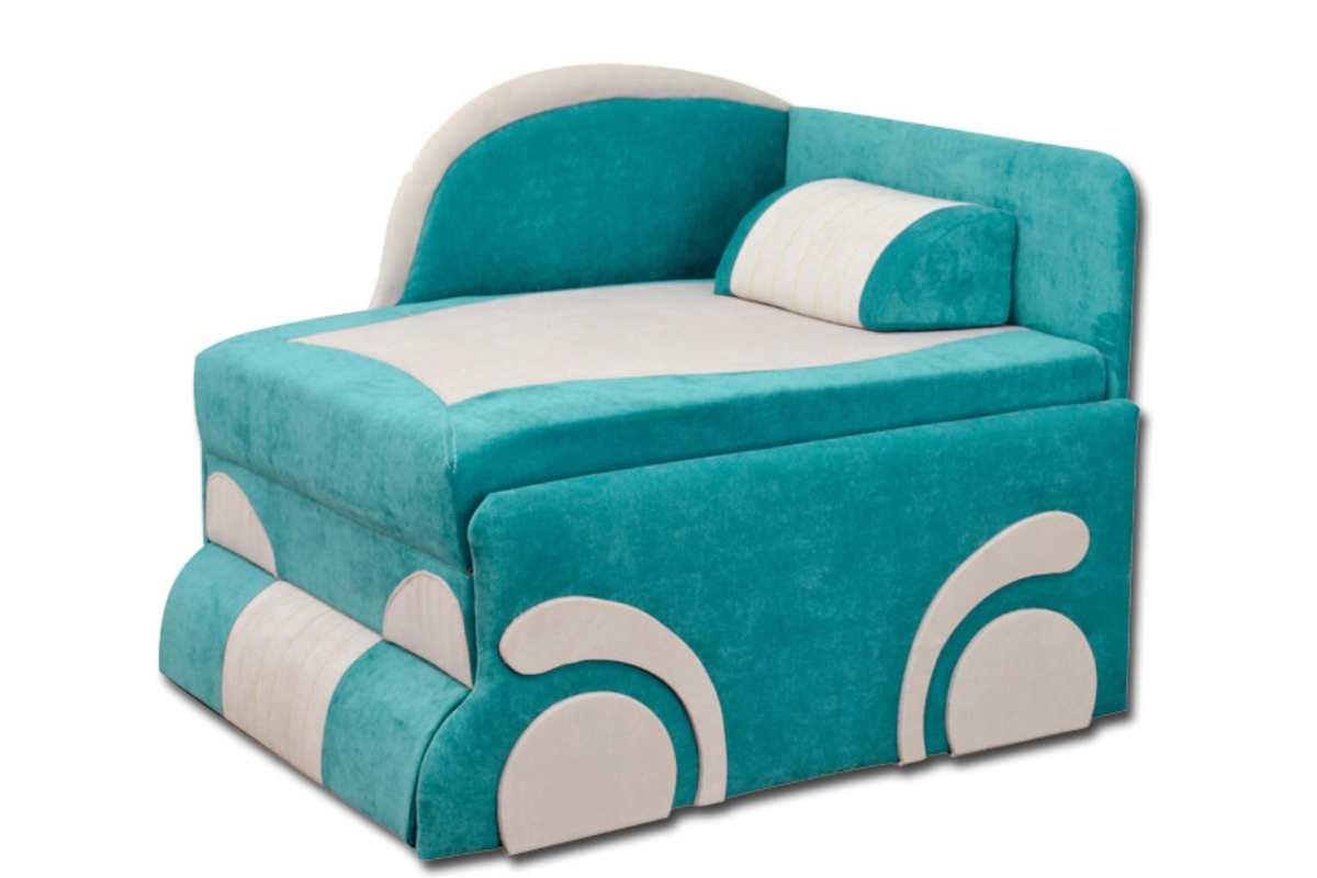 детское кресло кровать диван машинка бирюзовое