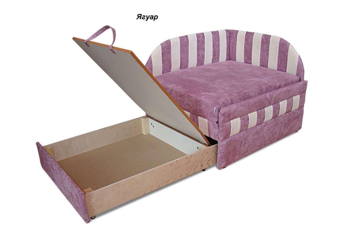 детское кресло кровать панда розовое с нишей