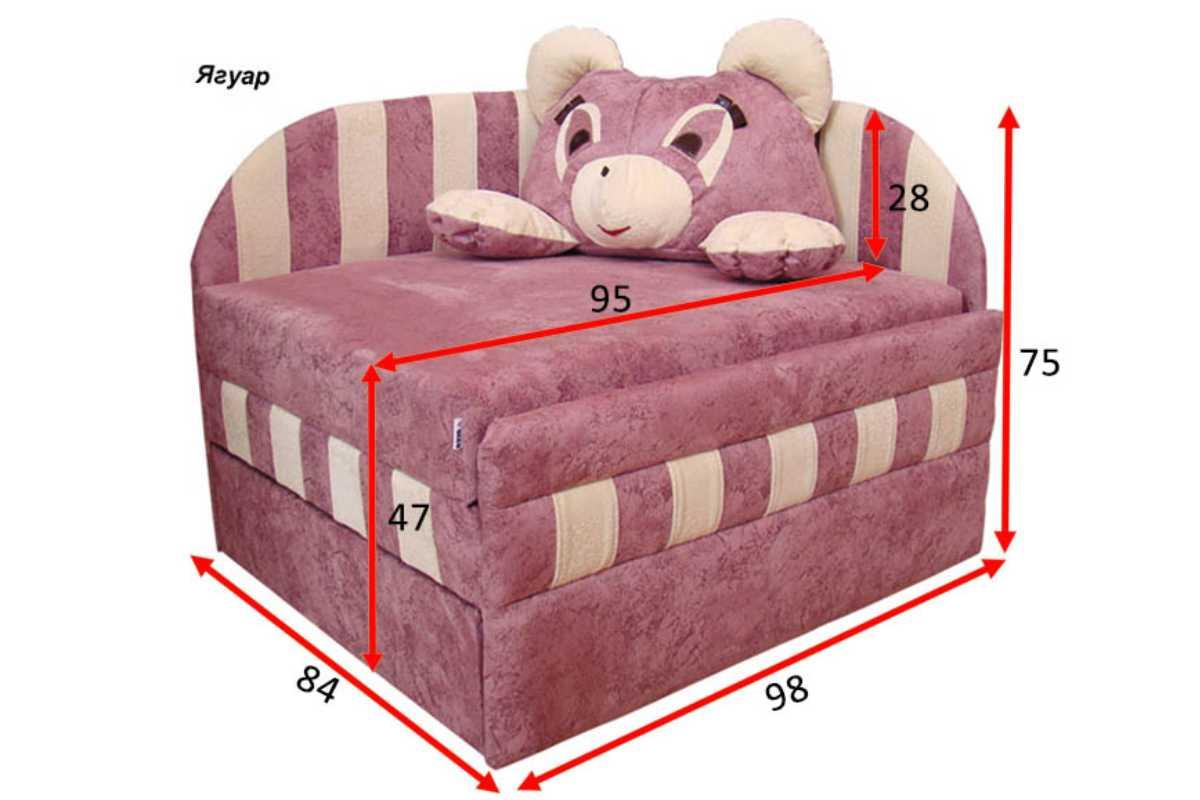 габариты кресла кровати панда