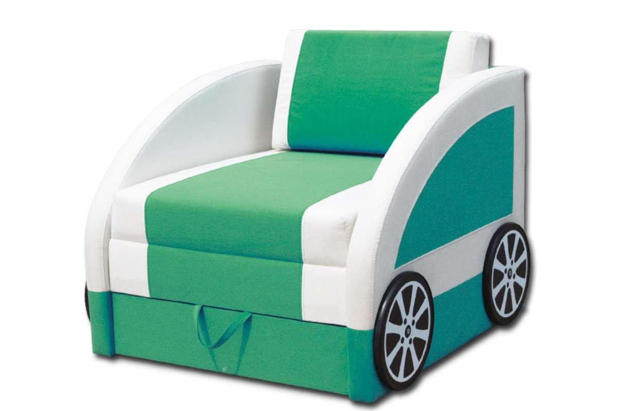 детский диван машинка смарт зеленый