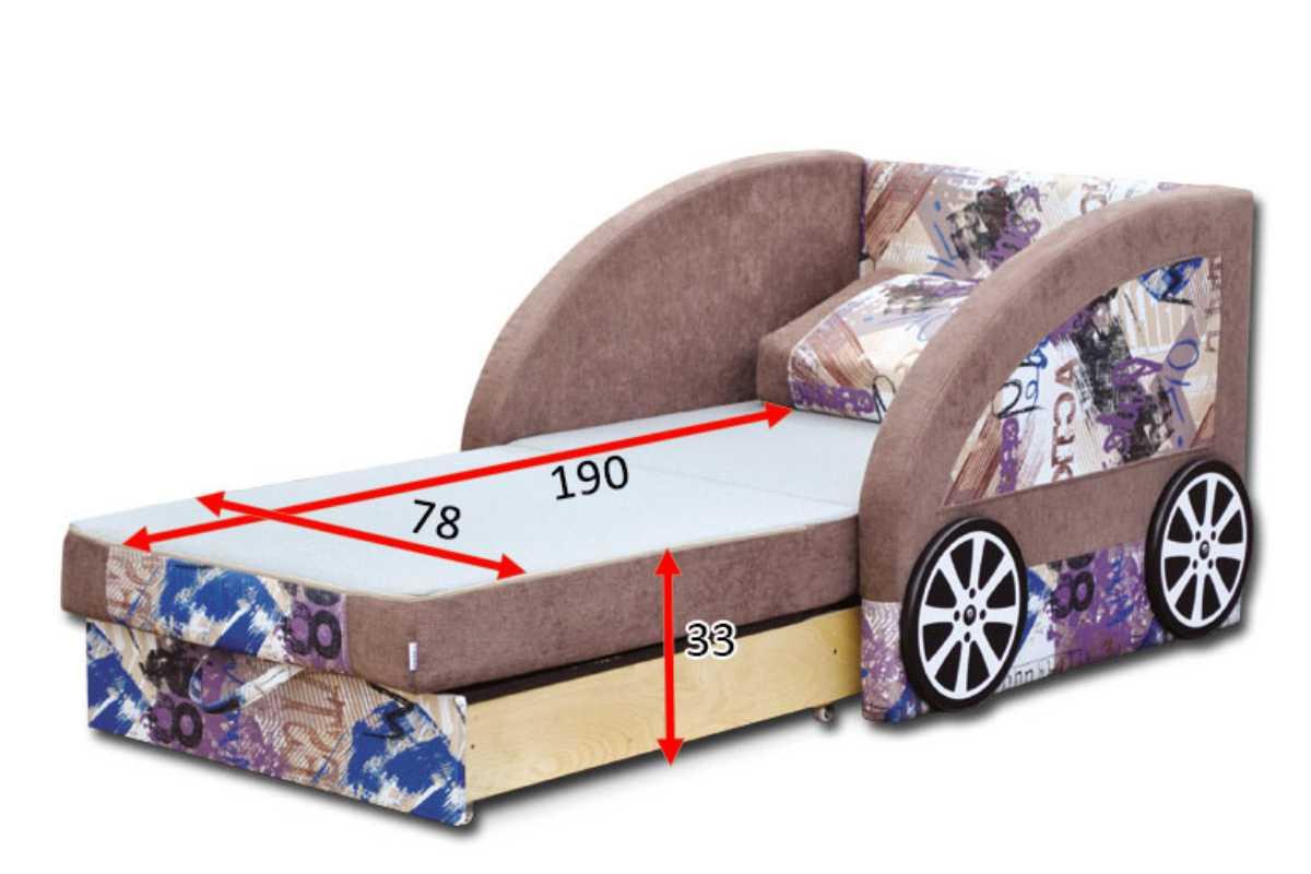 детский диван машинка смарт габариты