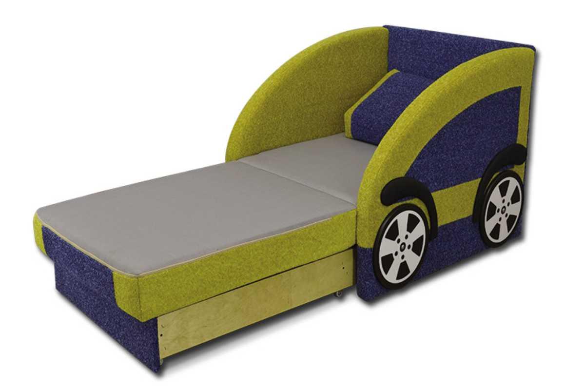 детский диван смарт желтый с синим