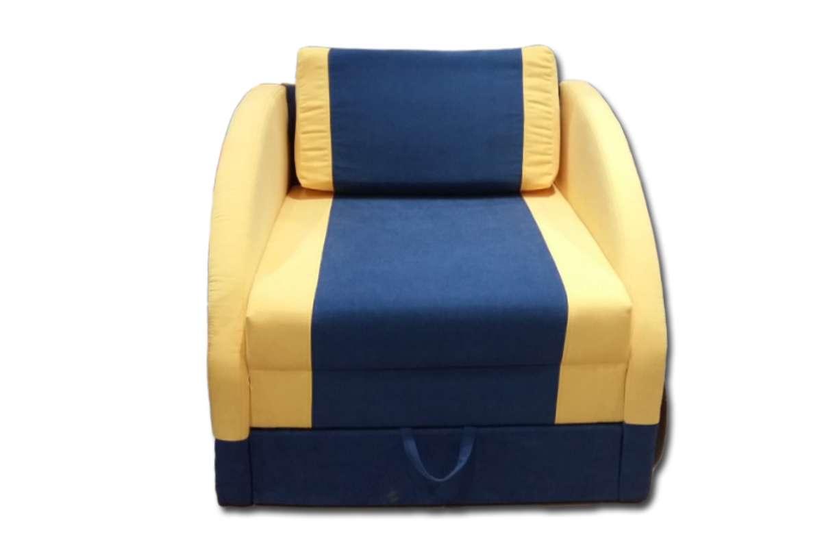 детский диван машинка смарт синий с желтым