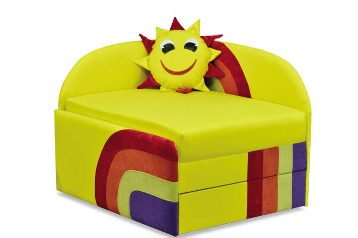 детское кресло кровать сонечко желтый