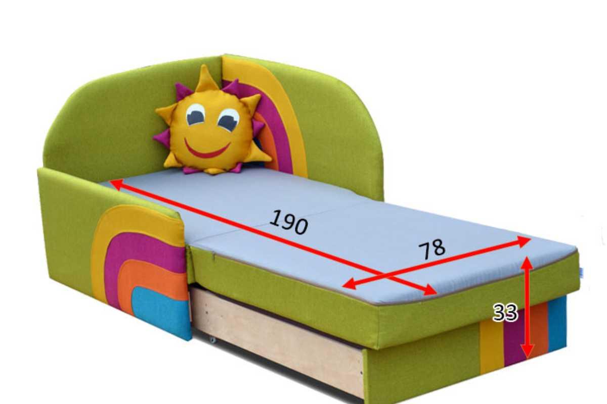 детское кресло кровать сонечко габариты