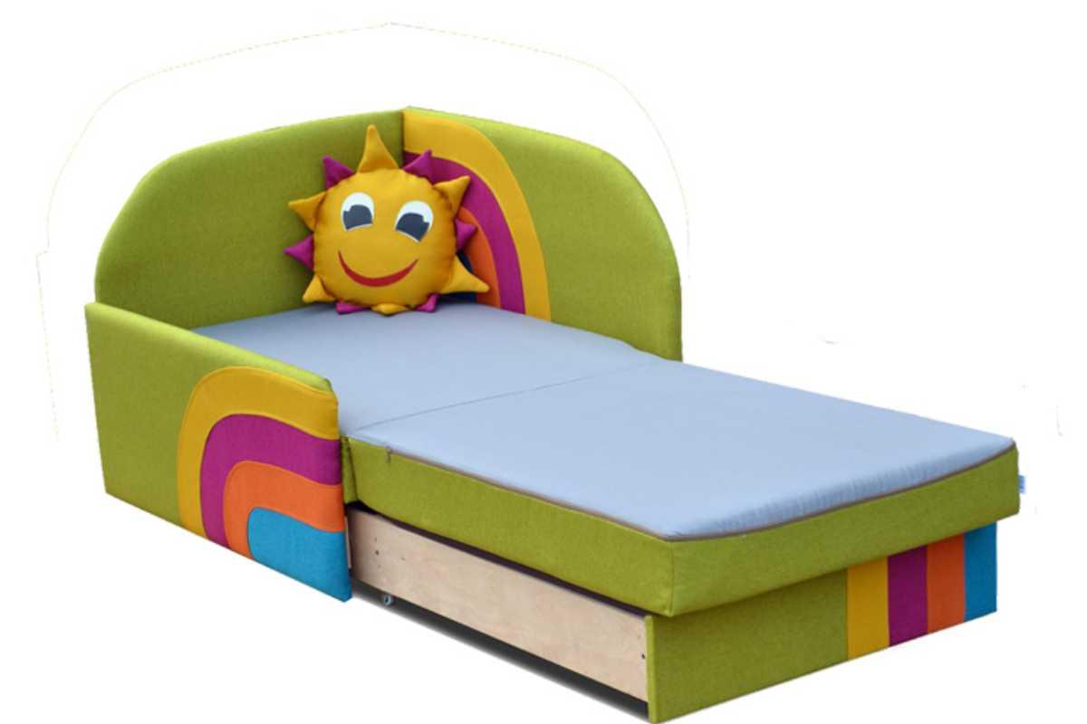 детское кресло кровать сонечко раскладной