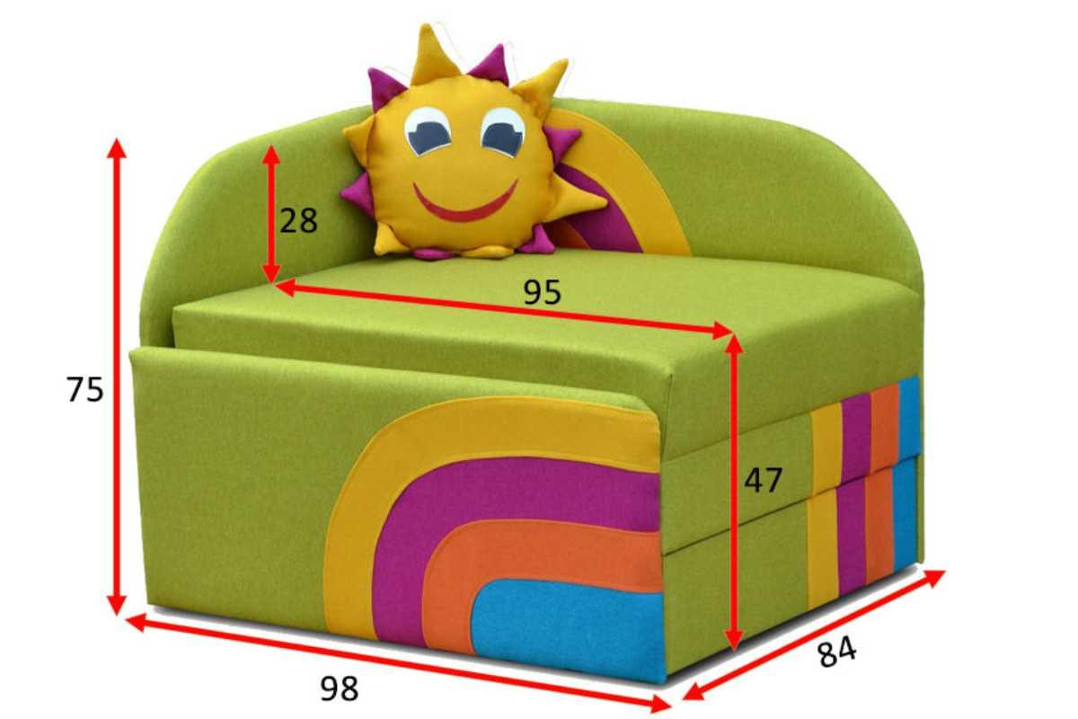 детское кресло кровать сонечко схема