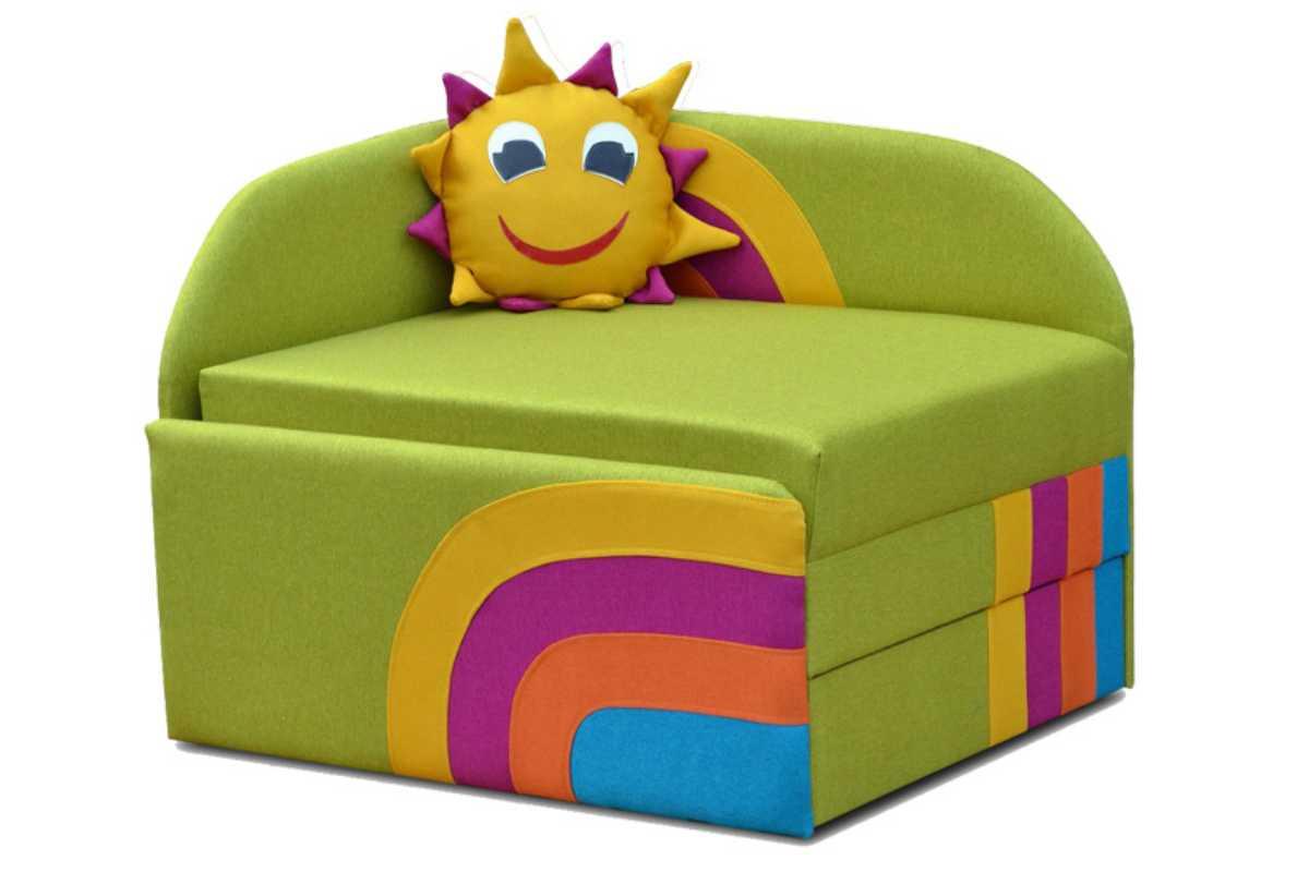 детское кресло кровать сонечко зеленый