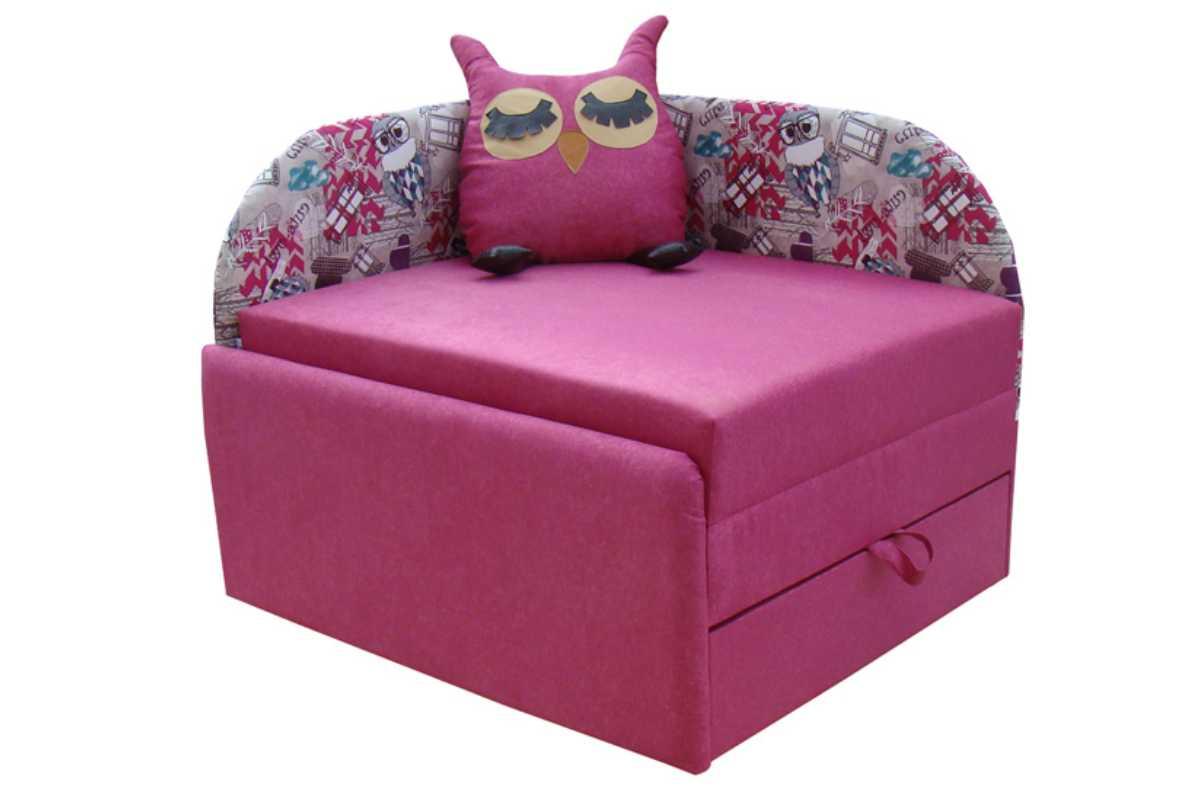 кресло кровать сова розовое