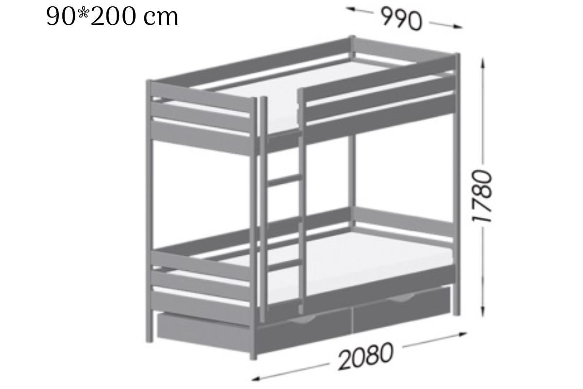 схема кровати дуэт 90*200