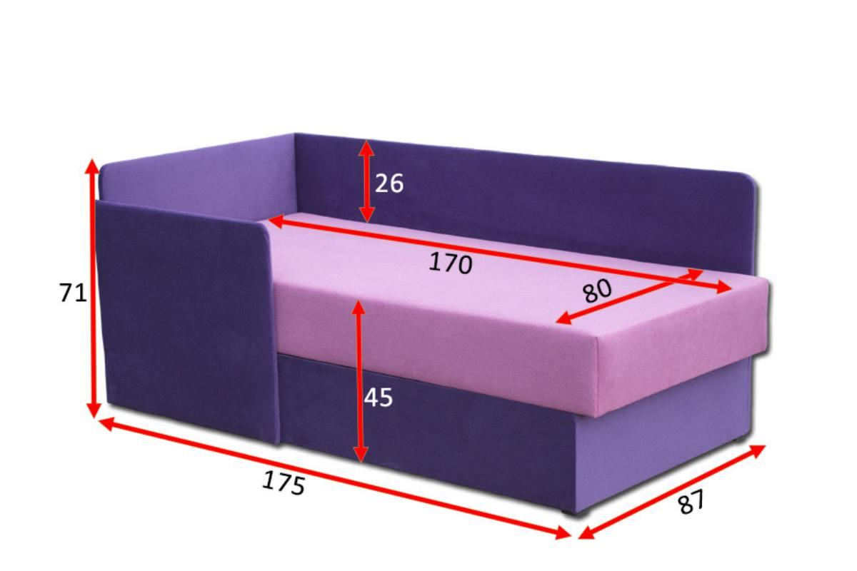 кровать диван бамбино габариты