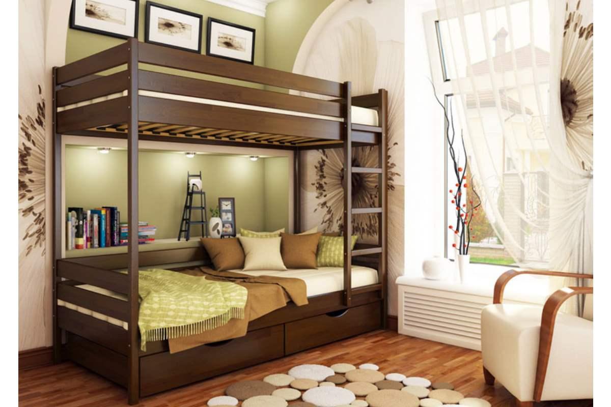 двухэтажная кровать дуэт цвет 101