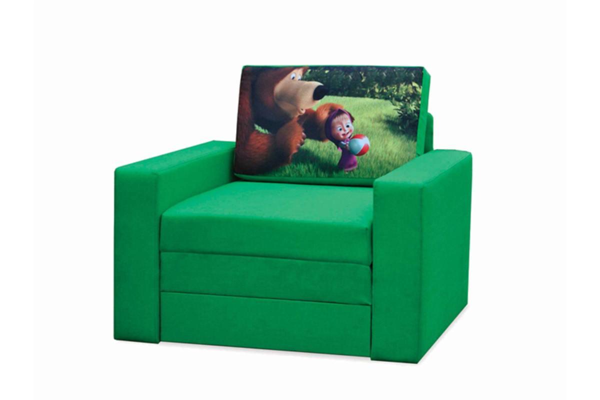 кресло кровать раскладной марс маша и медведь зеленый