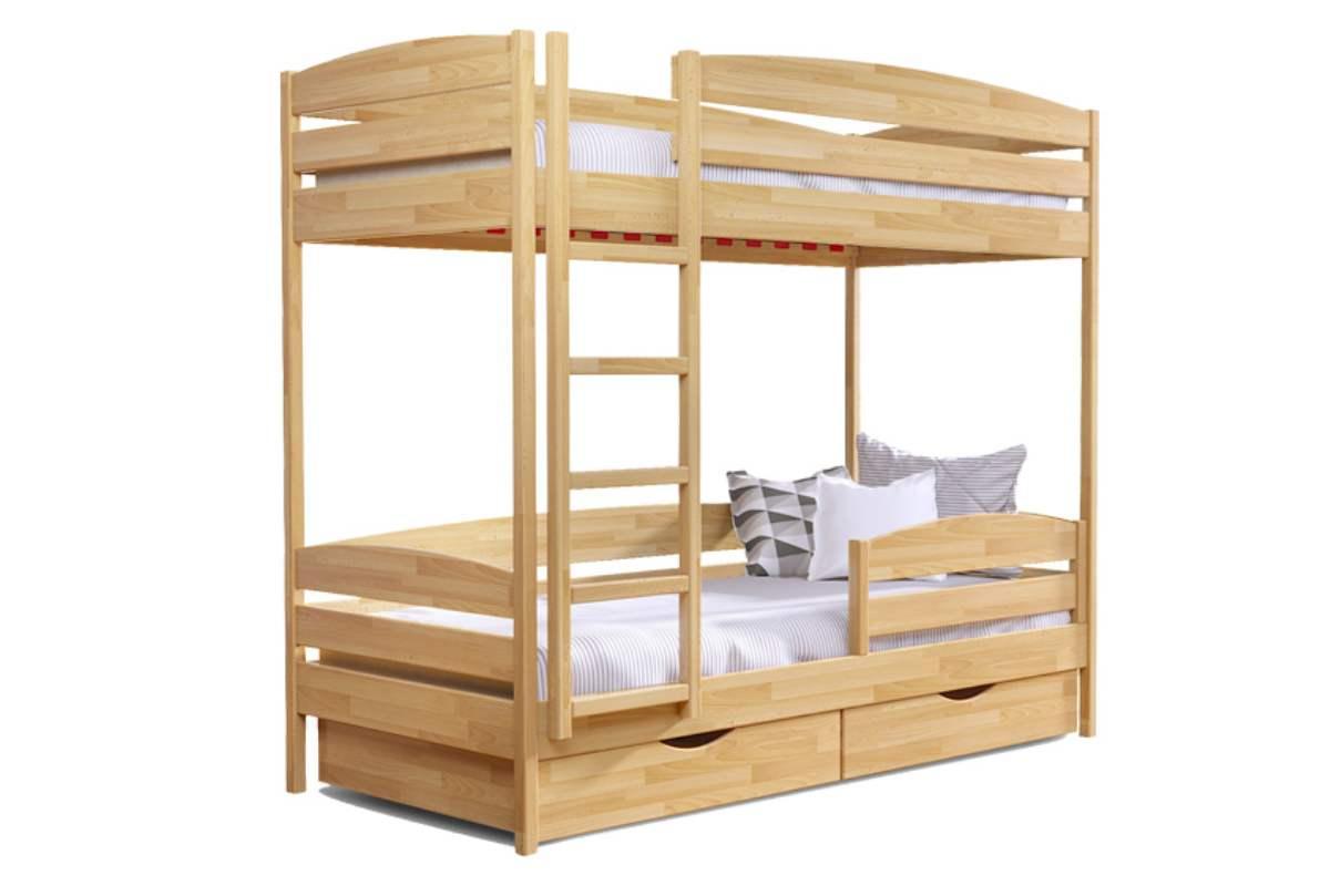 двухэтажная кровать дуэт плюс из бука