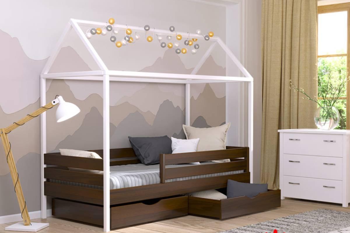 кровать домик амми из бука цвет 101
