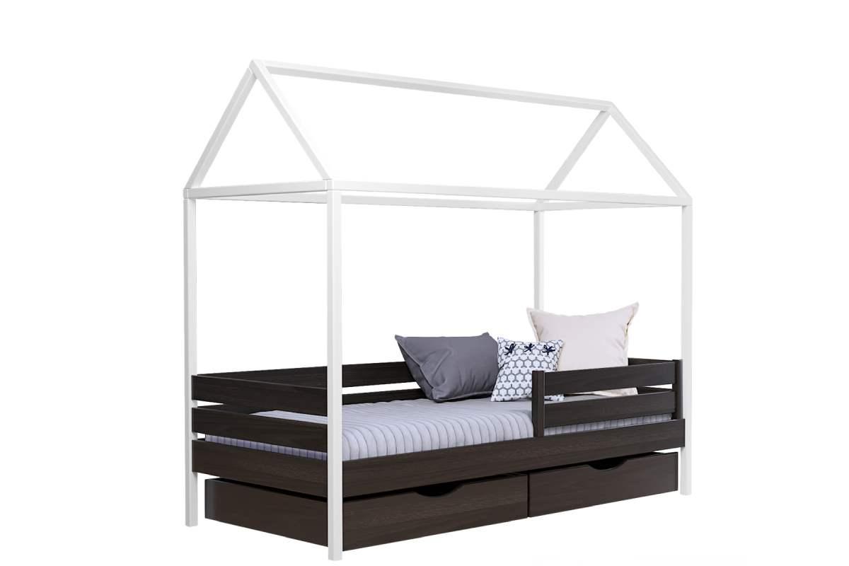 кровать домик амми из бука цвет 106