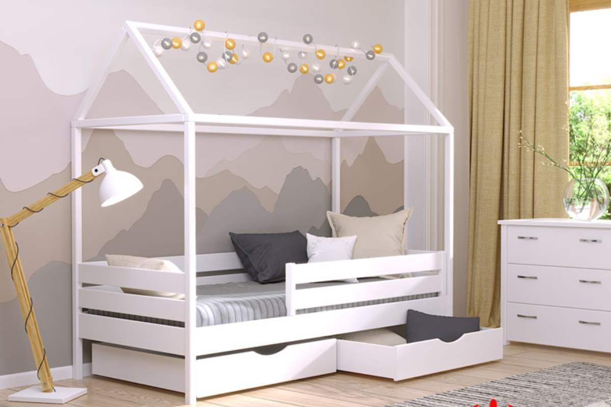 кровать домик амми из бука цвет 107