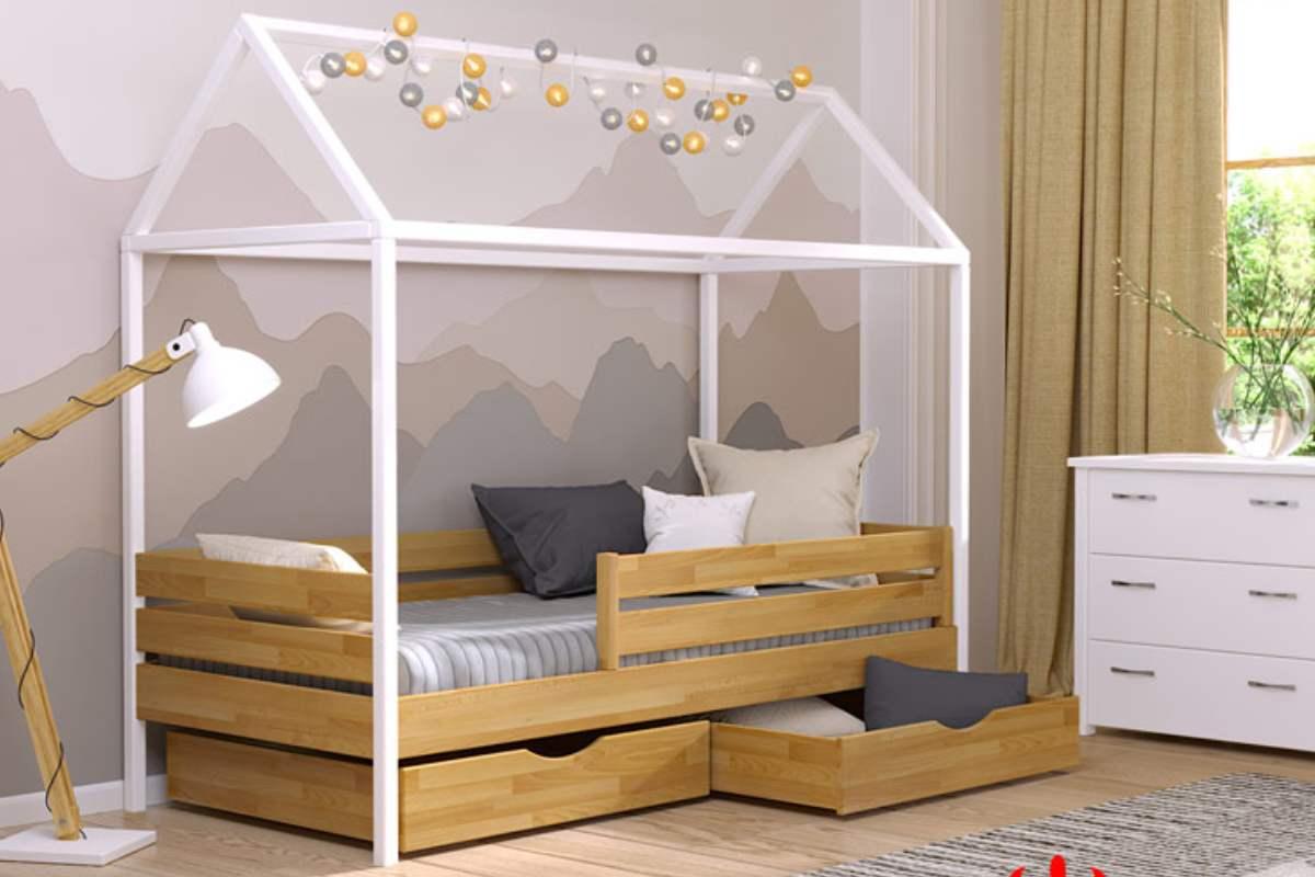 кровать домик амми из бука цвет 102