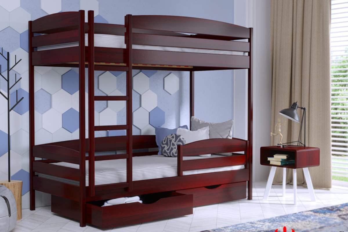 двухэтажная кровать дуэт плюс из бука цвет 104