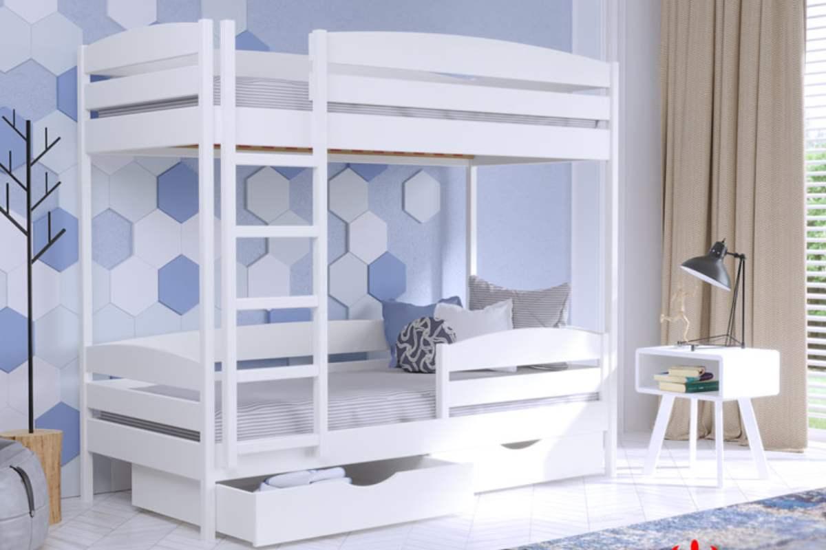 двухэтажная кровать дуэт плюс из бука цвет 107