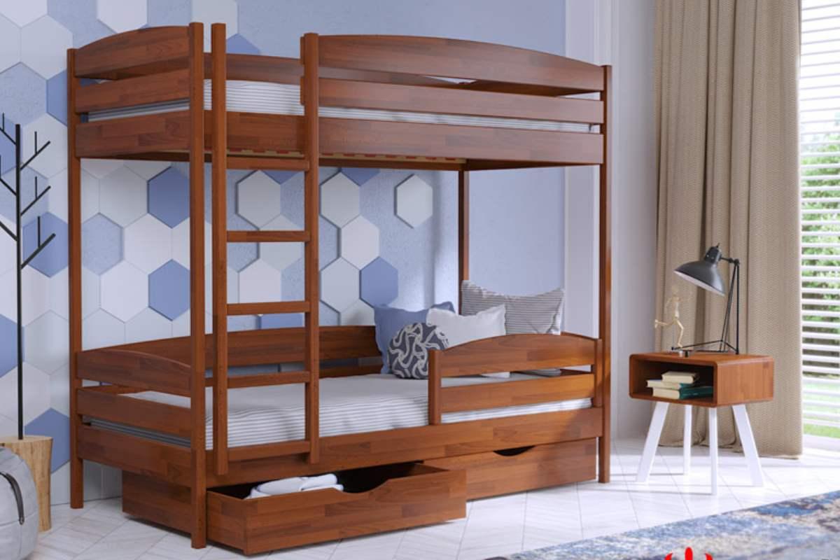 двухэтажная кровать дуэт плюс из бука цвет 105