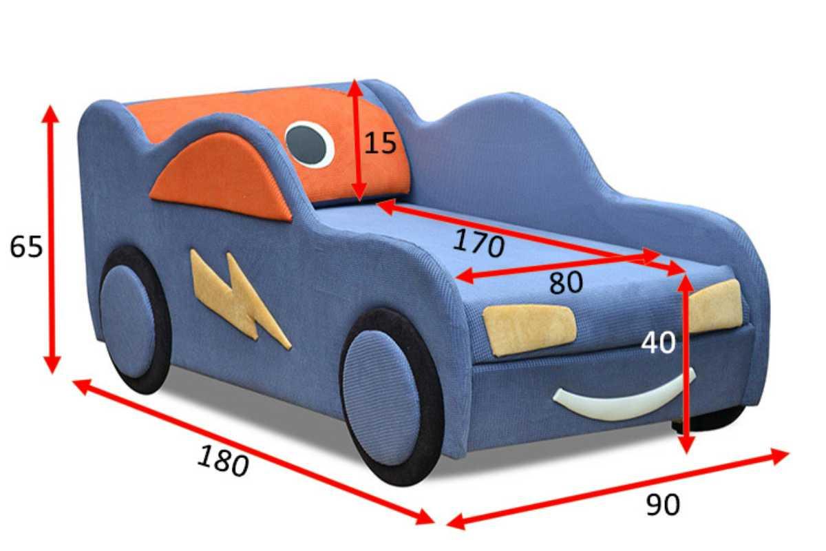 кровать машинка диванчик маквин размеры