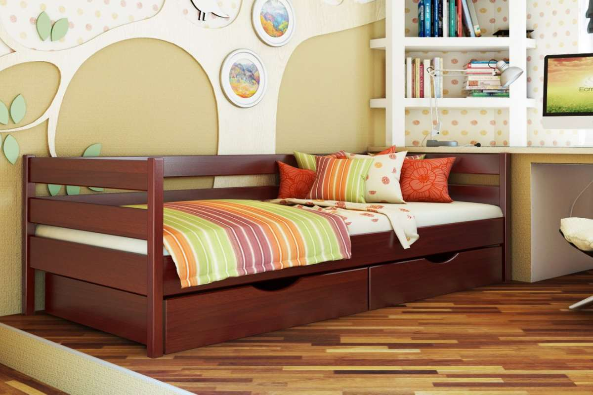 детская кровать из бука нота цвет 104