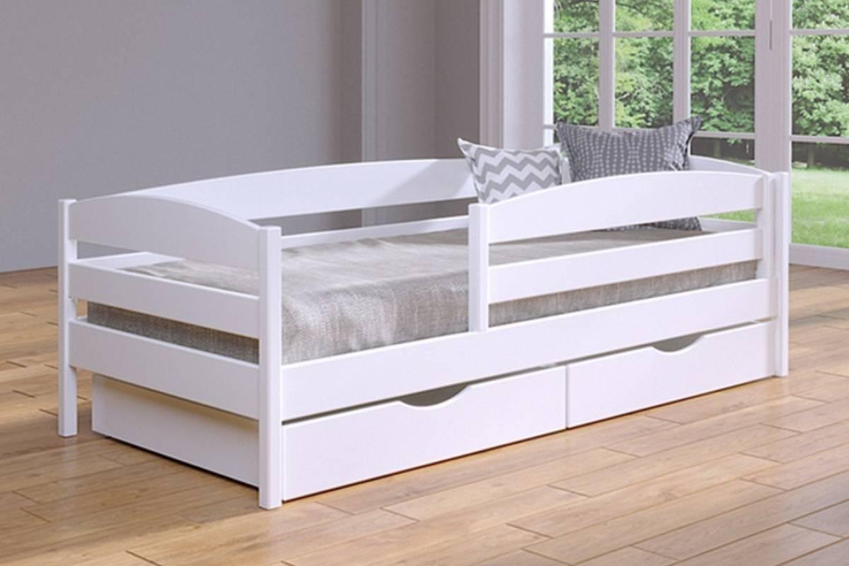 детская кровать из бука нота плюс белая