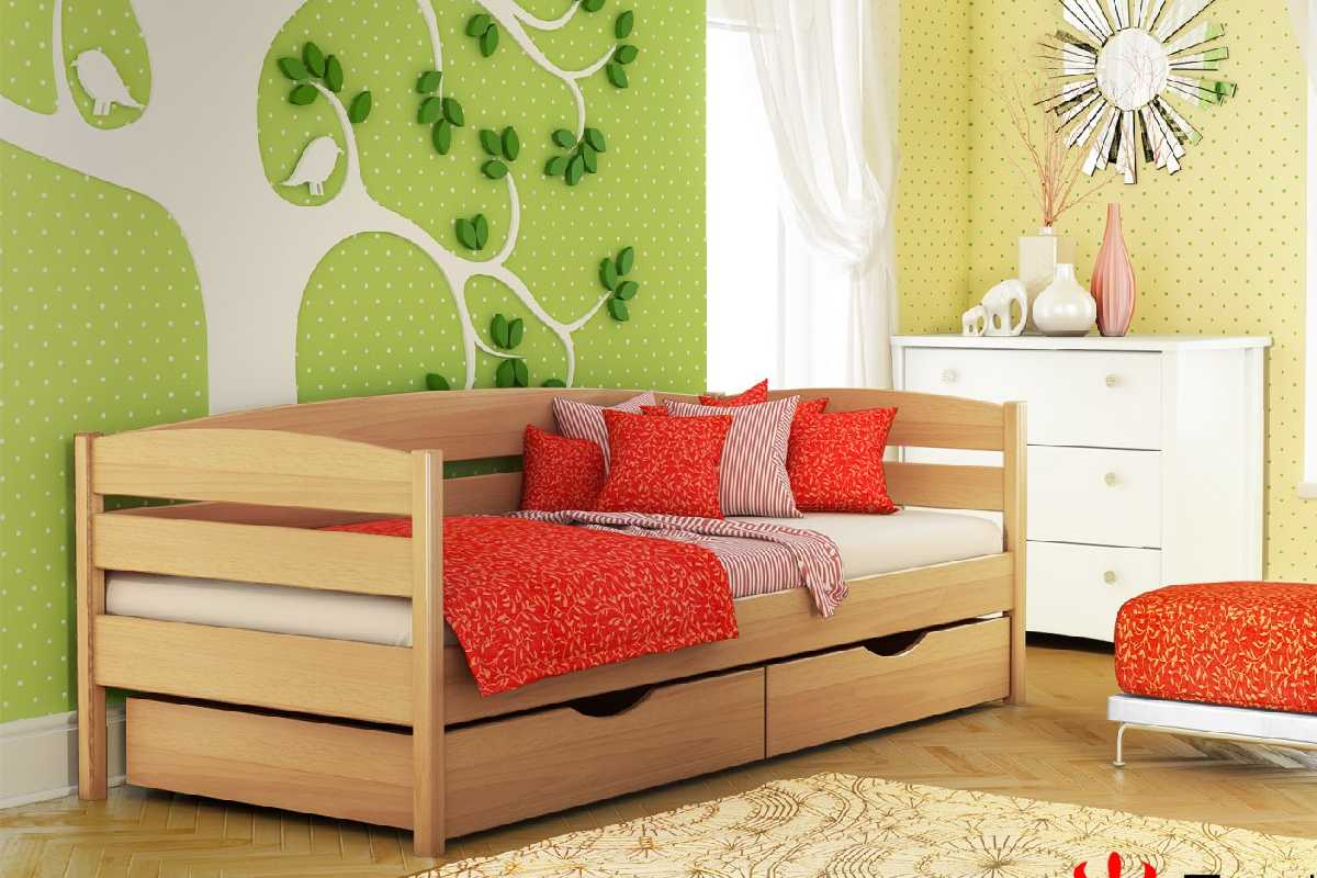 детская кровать из бука нота плюс цвет 102