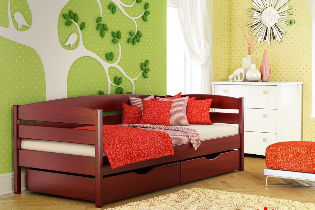 детская кровать из бука нота плюс цвет 104