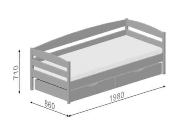 детская кровать из бука нота плюс схема
