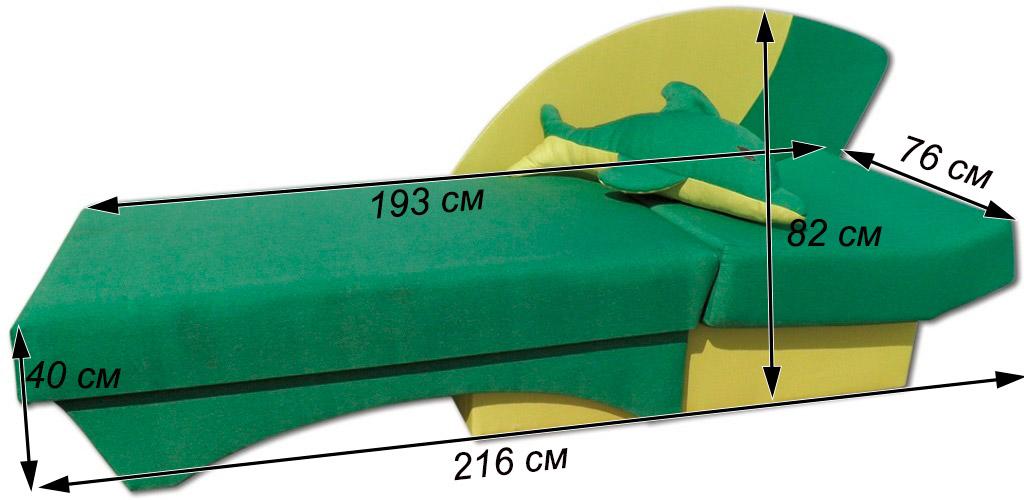 детский диванчик дельфин схема