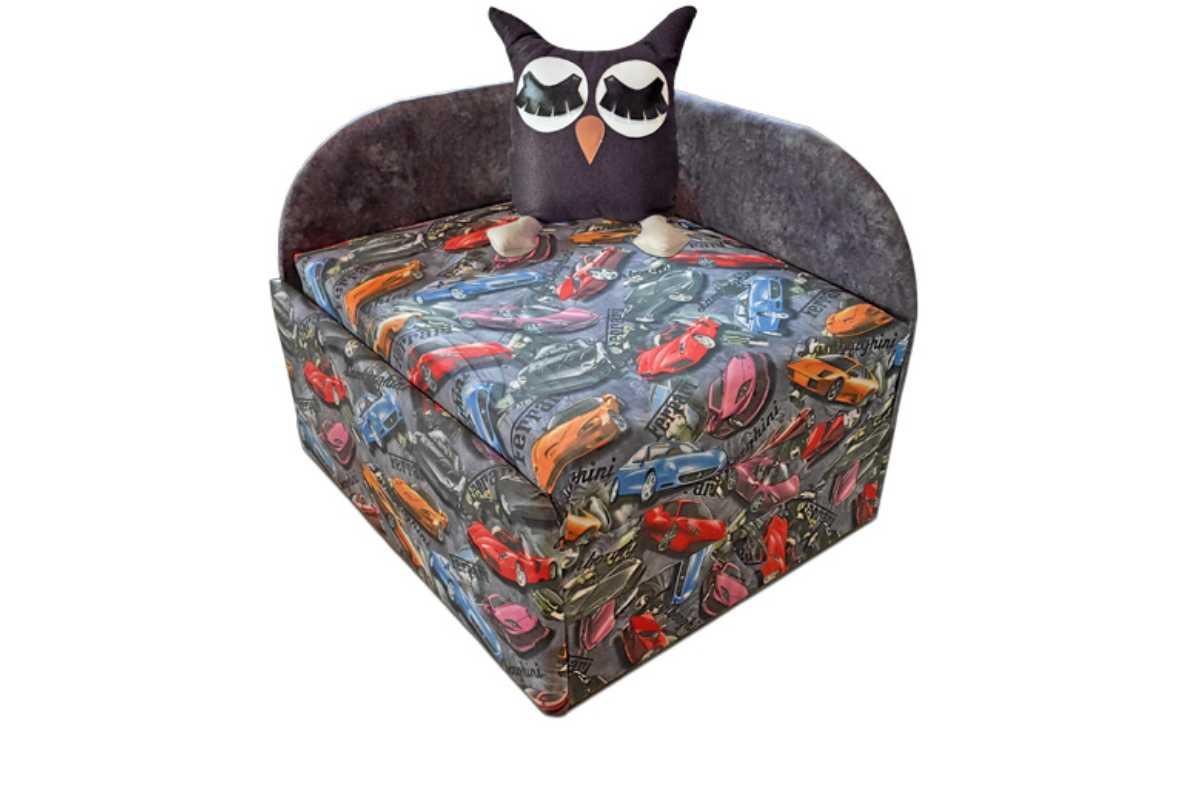 кресло кровать сова с принтом