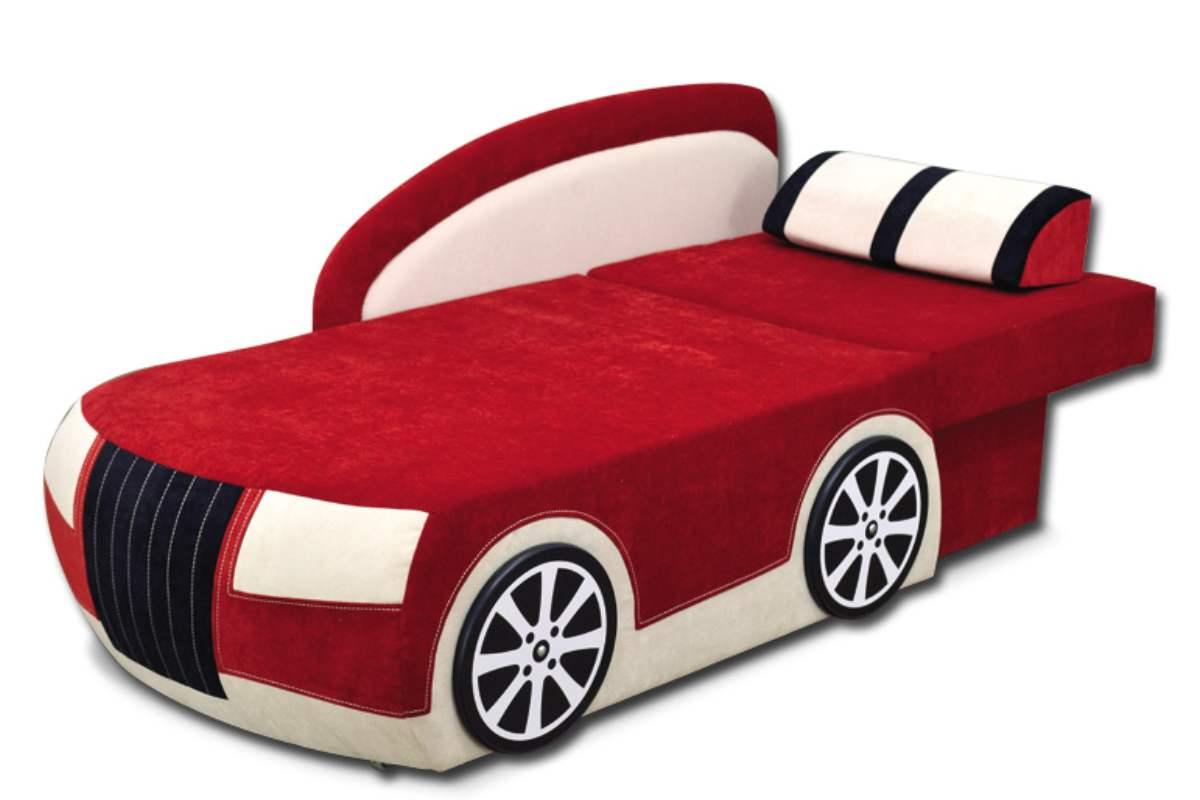 детский кровать диван бугатти красный