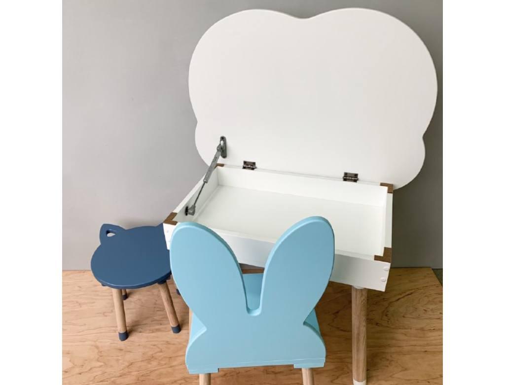 белый столик с подьемным механизмом