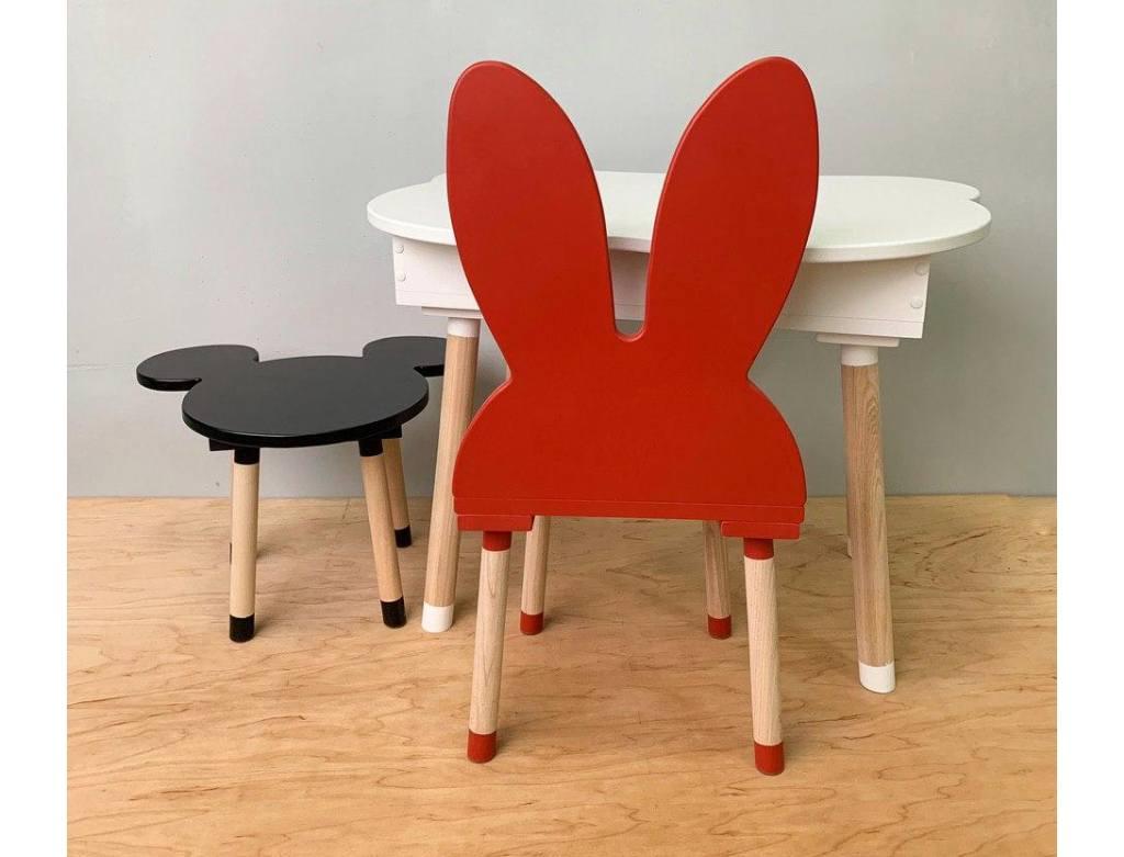 стульчик детский зайка красный