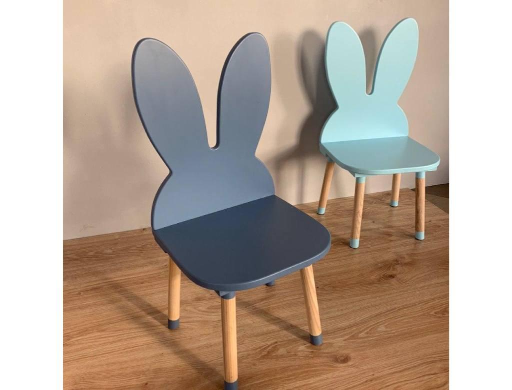 стульчик детский зайка голубой