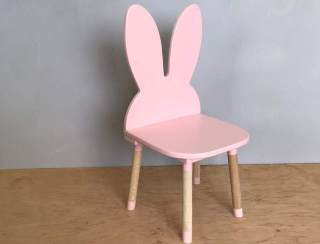 стульчик детский зайка розовый