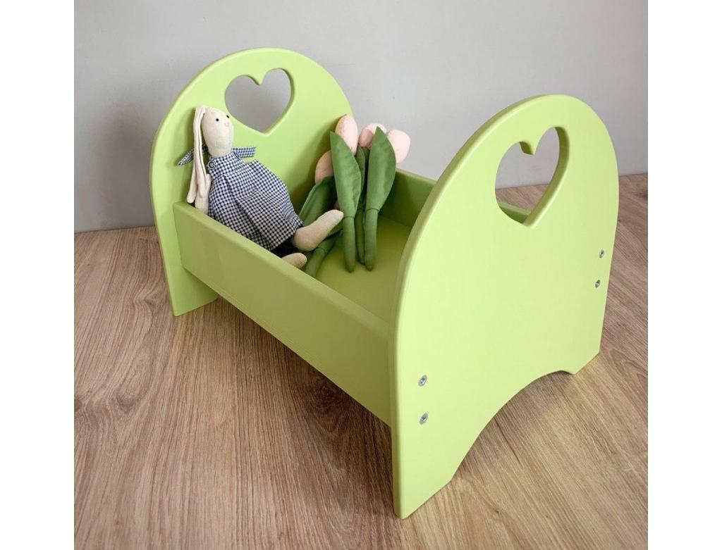 Кровать для кукол оливковая